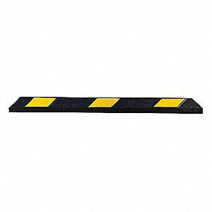 4FT RUBBER PARKING CURB BLACK/YLW