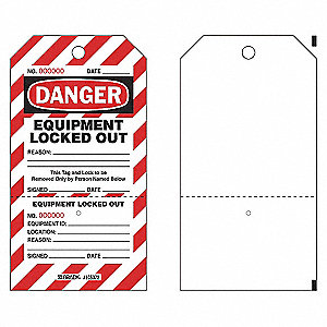 DANGER TAG,7-1/2 X 4 IN,PLSTC,PK25