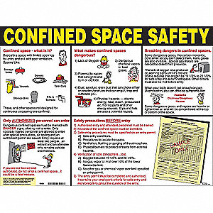 POSTER 18X24 CONFINED SPACE SAFETY