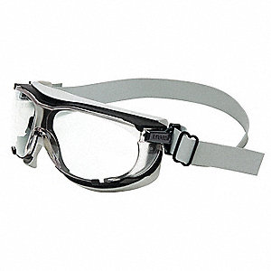 Anti-Fog, Scratch-Resistant Non-Vented Protective Goggles, Clear Lens