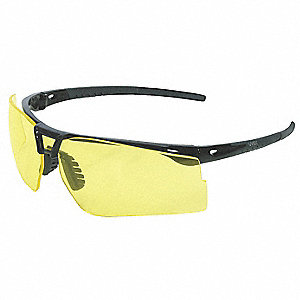 Bayonet™ Scratch-Resistant Safety Glasses, Amber Lens Color
