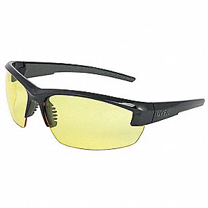 Mercury  Scratch-Resistant Safety Glasses, Amber Lens Color