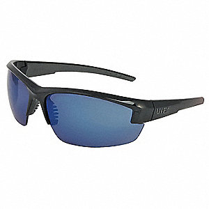 Mercury™ Scratch-Resistant Safety Glasses, Blue Mirror Lens Color
