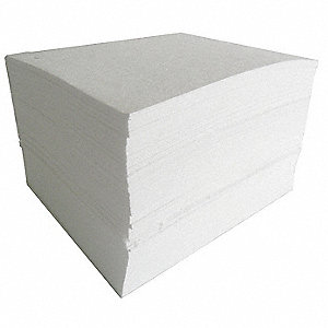 "19"" x 15"" Medium Absorbent Pad for Oil Only/Petroleum, White&#x3b; PK200"