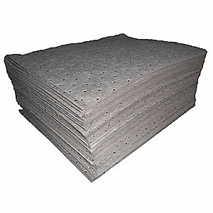"19"" x 15"" Light Absorbent Pad for Universal / Maintenance, Gray&#x3b; PK200"