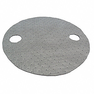 "22"" Heavy Drum Top Absorbent Pad for Universal / Maintenance, Gray&#x3b; PK25"