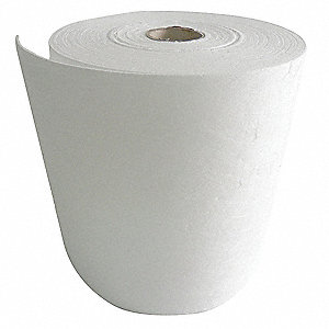 Medium, Polypropylene Absorbent Roll, Fluids Absorbed: Oil Only / Petroleum, 150 ft. Length