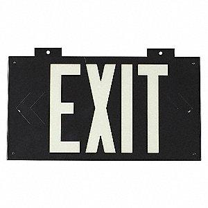 EXIT SIGN 8 X 15IN WHT/BK EXIT