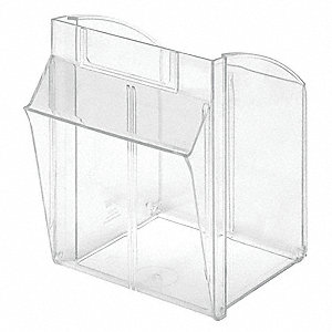 Tip-Out Bin,Clear,F/ Mfr. No. QTB304