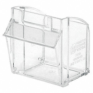 Repl. Bin Cup for Mfr. No. QTB309, Clear