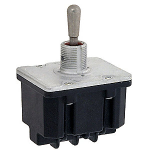 Toggle Switch,4PDT,15A @ 277V,Screw