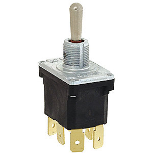 Toggle Switch, Number of Connections: 6, Switch Function: On/On, 15A @ 277VAC AC Contact Rating