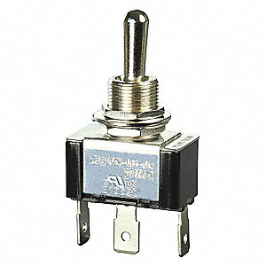 Toggle Switch, Number of Connections: 3, Switch Function: Momentary On/Off/Momentary On