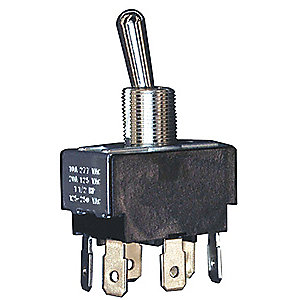 Toggle Switch, Number of Connections: 6, Switch Function: On/On