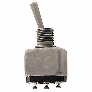 Toggle Switch, Number of Connections: 3, Switch Function: Off/Off/On, 5A @ 120VAC AC Contact Rating