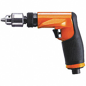 "0.38 HP Industrial Duty Geared Air Drill, Pistol Style, 1/4"" Chuck Size"