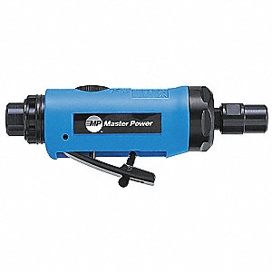 "Rear Exhaust Straight Air Die Grinder, 1/4"" Collet, 23,000 rpm Free Speed, 0.3 HP"