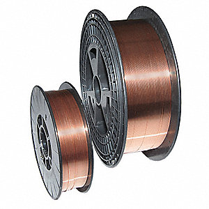 "2 lb. Carbon Steel Spool MIG Welding Wire with 0.025"" Diameter and ER70S-2 AWS Classification"