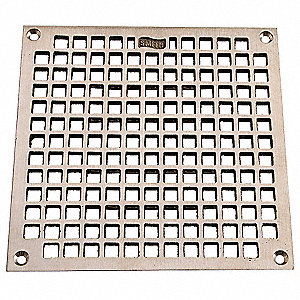 w/Screws Nickel Bronze Floor Drain Grate