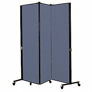 5 ft. 9 in. x 5 ft. 9 in., 3-Panel Portable Room Divider, Lake