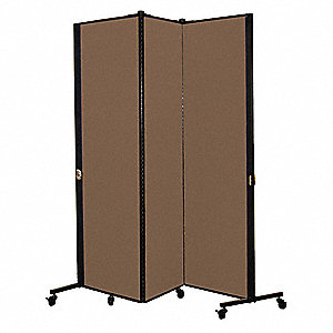 Portable Room Divider,5Ft 9In W,Walnut