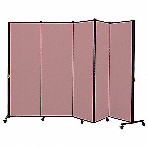 Portable Room Divider,9Ft 5In W,Rose