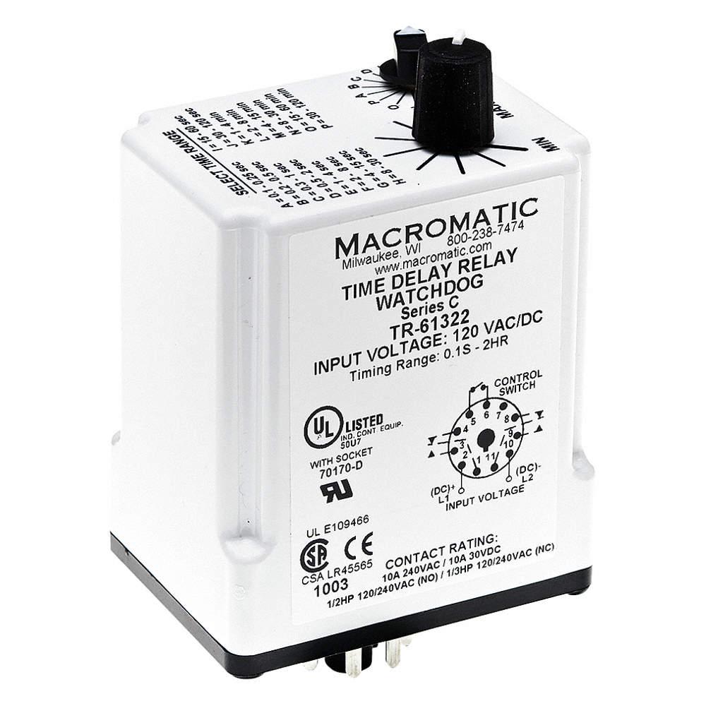 MACROMATIC 240VAC, 11 Pins, DPDT - 24EP51|TR-61321 - Grainger on