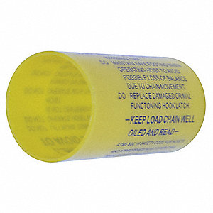 WARNING TUBE 1/2 10 TON