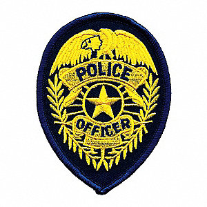 Rayon/Polyester Embroidered Patch, Law Enforcement Industry Type, Badge Patch Type