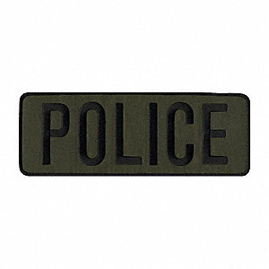 Rayon/Polyester Embroidered Patch, Law Enforcement Industry Type, Back Patch Type