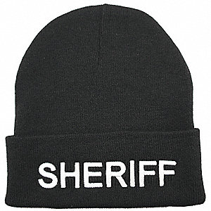 Sheriff Watch Cap,Beanie,Black,Universal