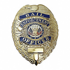 Metal Metal Badge, Law Enforcement Industry Type, Badge Patch Type, Gold Color