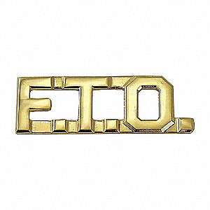 Metal Metal Rank Insignia, Law Enforcement Industry Type, Rank Insignia Patch Type, Gold Color