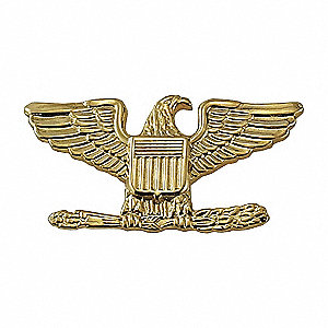 Metal Metal Rank Insignia, Law Enforcement, U.S. Army Industry Type, Rank Insignia Patch Type