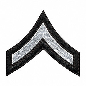 Embroidered Patch,PFC,White on Black,PR
