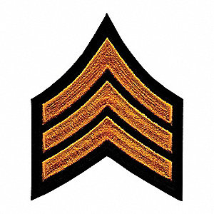 Rayon/Polyester Embroidered Patch, Law Enforcement Industry Type, Rank Insignia Patch Type