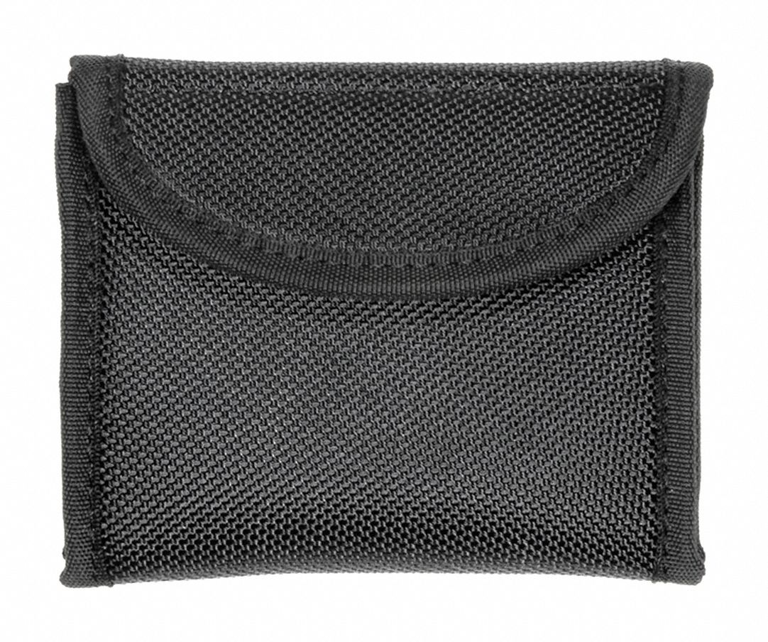 Glove Pouch, Hook-and-Loop, Nylon, Black