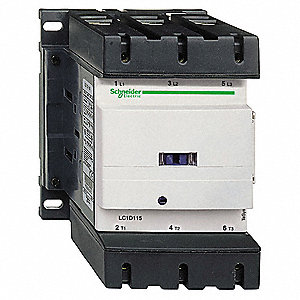 208VAC IEC Magnetic Contactor; No. of Poles 3, Reversing: No, 115 Full Load Amps-Inductive
