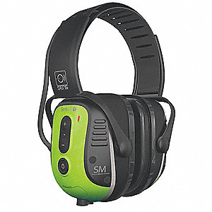 Over-the-Head Spanish Version Electronic Ear Muff, 23dB, Radio Band Type: No Radio Band