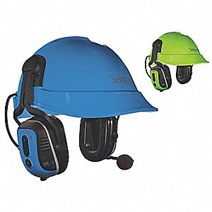 Green/Blue Electronic Ear Muff, Noise Reduction Rating NRR: 23dB, Dielectric: No