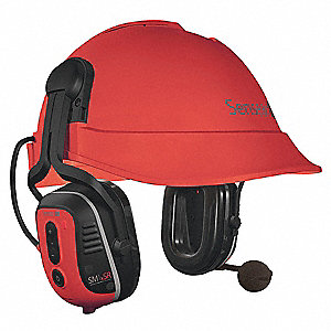 Red Spanish Version Electronic Ear Muff, Noise Reduction Rating NRR: 23dB, Dielectric: No