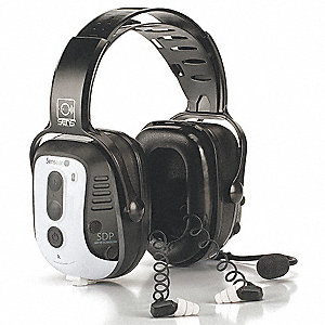 Over-the-Head Spanish Version Electronic Ear Muff, 30dB