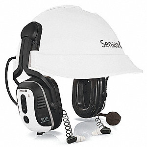 White Spanish Version Electronic Ear Muff, Noise Reduction Rating NRR: 31dB, Dielectric: No