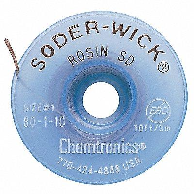 24JY88 - Desoldering Wick 10 ft. 1 Copper Rosin
