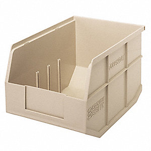 "Shelf Bin, Ivory, 12"" Outside Length, 8-1/4"" Outside Width, 7"" Outside Height"
