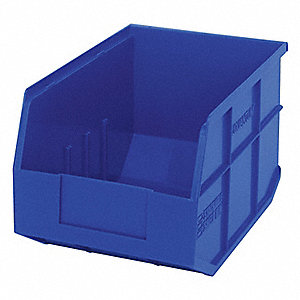 STACKABLE SHELF BIN,12X8-1/4X7,BLUE