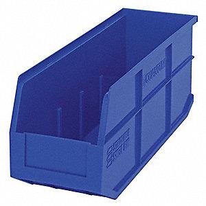 STACKABLE SHELF BIN,18X6X7,BLUE