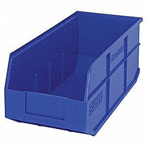 STACKABLE SHELF BIN,18X8-1/4X7,BLUE