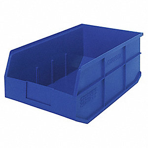 STACKABLE SHELF BIN,18X11X7,BLUE