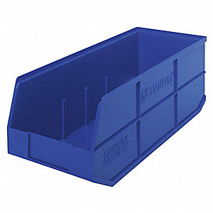 STACKABLE BIN,20-1/2X8-1/4X7,BLUE